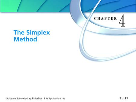 Chapter 4 The Simplex Method