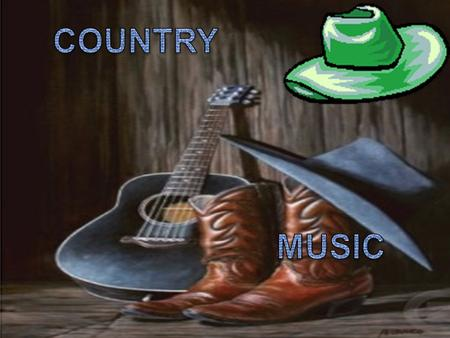 Definition : Genre of popular and traditional, typical of the United States. Characteristics: The typical instruments of country music are: voice, the.