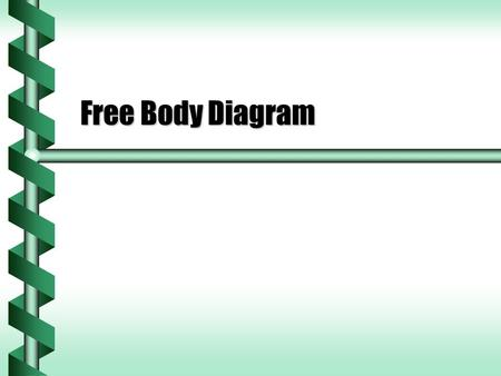 Free Body Diagram. Force Vectors  Force is a vector.  A block sliding on an inclined plane has forces acting on it.  We know there is a force of gravity.