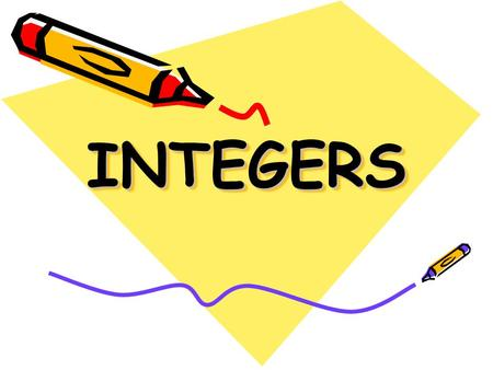 INTEGERSINTEGERS. What is an Integer? An integer is a positive or negative whole number, including 0. …-3, -2, -1, 0, 1, 2, 3…