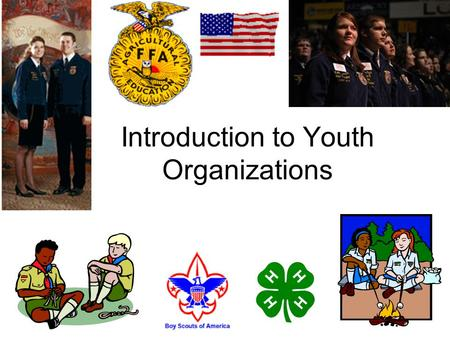 Introduction to Youth Organizations. Overview of Today Orientation to the course (PPT) Youth Development (PPT) The Advisor: Roles and Responsibilities.