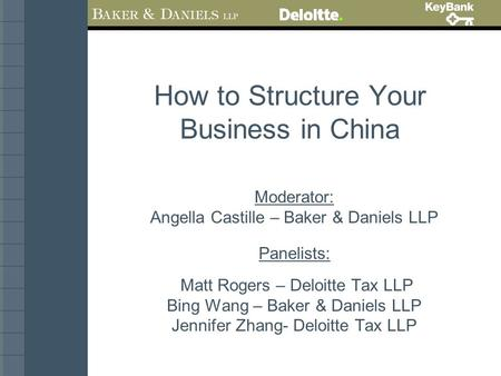 How to Structure Your Business <strong>in</strong> <strong>China</strong>