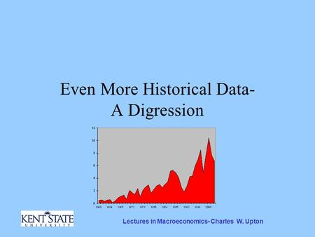 Lectures in Macroeconomics- Charles W. Upton Even More Historical Data- A Digression.