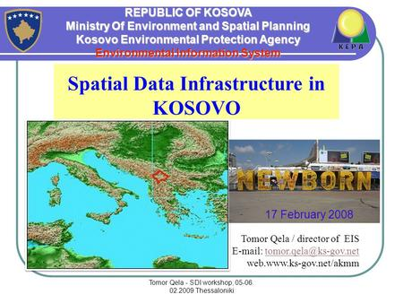 Spatial Data Infrastructure in KOSOVO