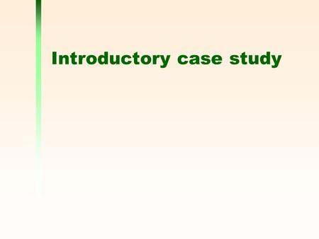 Introductory case study. 2 The problem The most difficult part of any design project is understanding the task you are attempting You have been contacted.