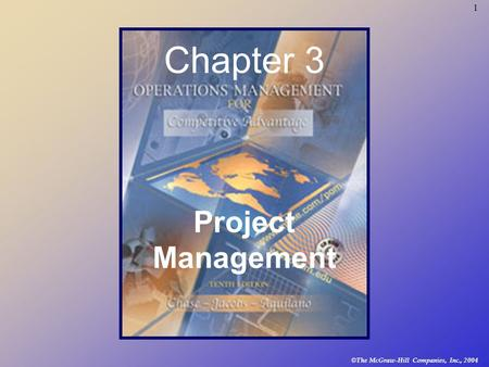 © The McGraw-Hill Companies, Inc., 2004 1 Chapter 3 Project Management.