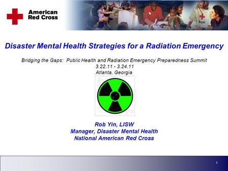 Corporate Strategy 1 Disaster Mental Health Strategies for a Radiation Emergency Bridging the Gaps: Public Health and Radiation Emergency Preparedness.