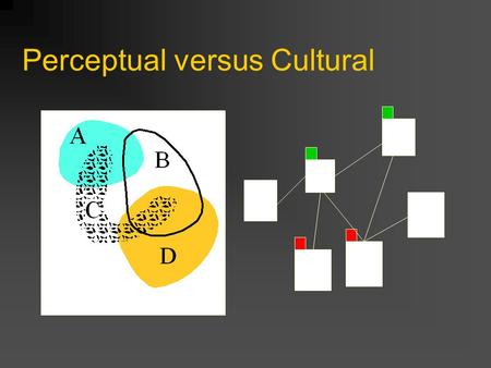 Perceptual versus Cultural. Architecture for visual thinking.