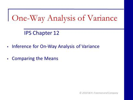 Statistics review 9: One-way analysis of variance