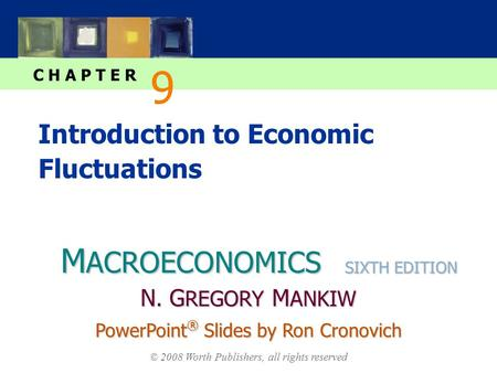 M ACROECONOMICS C H A P T E R © 2008 Worth Publishers, all rights reserved SIXTH EDITION PowerPoint ® Slides by Ron Cronovich N. G REGORY M ANKIW Introduction.