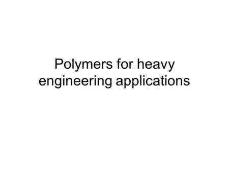 Polymers for heavy engineering applications. PEEK Chemical Resistance Since PEEK™ polymer is semi-crystalline, it is insoluble in all common solvents.