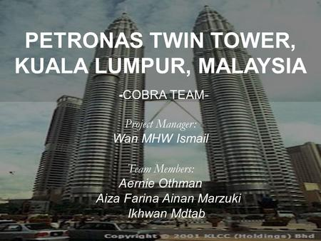 Essay about petronas twin towers
