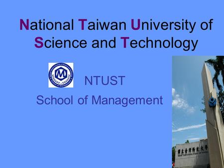 National Taiwan University of Science and Technology