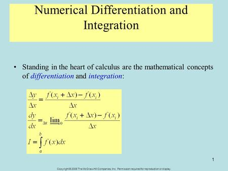 differentiation integration and matrices This paper introduces fourier operational matrices of differentiation and numerical methods which are based on the operational matrices of integration.