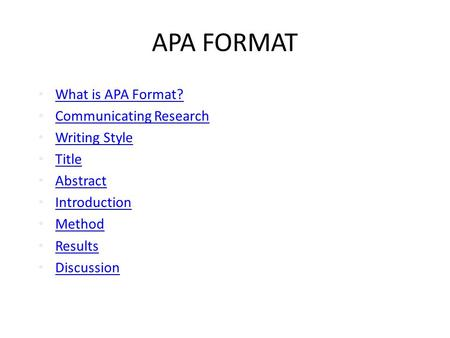apa format for essay writing
