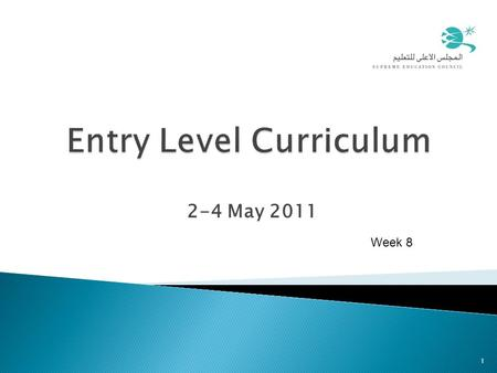 2-4 May 2011 1 Week 8. Agenda - Week 8 10:00-10:10Welcome (Starter activity) 10:10-11:10Lesson Plan 11:10-11:45Micro Teaching evaluation 11:45-12:00 Break.
