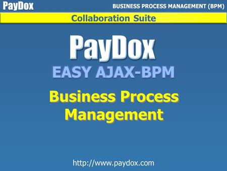 Collaboration Suite Business Process Management