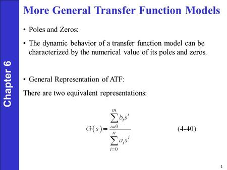 More General Transfer Function Models