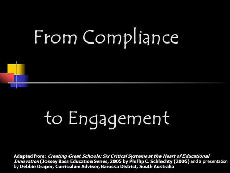 From Compliance to Engagement