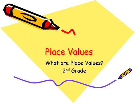 Place Values What are Place Values? 2 nd Grade. Definition of Place Value The position, or place, of a digit in a number written in standard form determines.