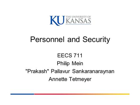 Personnel and Security