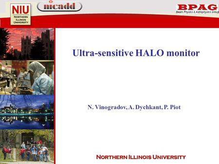 Ultra-sensitive HALO monitor N. Vinogradov, A. Dychkant, P. Piot.