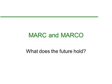 MARC and MARCO What does the future hold?. What are we doing? 270 Nuclear Microscopy, Nuclear Microprobe or Proton Microprobe papers 1993-October 1996.