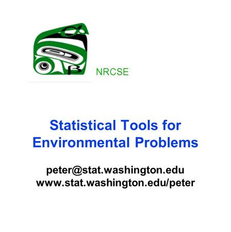 Statistical Tools for Environmental Problems  NRCSE.