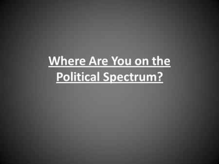 Where Are You on the Political Spectrum?. The purpose of the political spectrum is to show the differences in beliefs and ideologies (communism, racism,