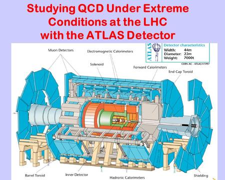 Studying QCD Under Extreme Conditions at the LHC with the ATLAS Detector.