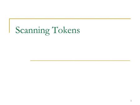 "1 Scanning Tokens. 2 Tokens When a Scanner reads input, it separates it into ""tokens""  … at least when using methods like nextInt()  nextInt() takes."