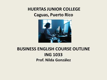 business english course outline pdf