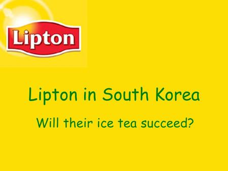 Will their ice tea succeed?