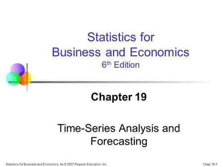 Chapter 19 Time-Series Analysis and Forecasting