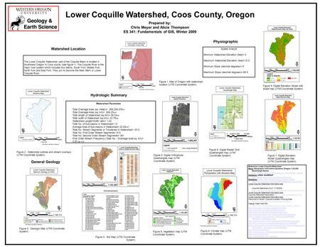 The Lower Coquille Watershed, part of the Coquille Basin is located in Southwest Oregon in Coos county (see figure 1). The Coquille River is the major.