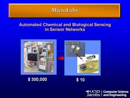 Automated Chemical and Biological Sensing in Sensor Networks MicroLabs.