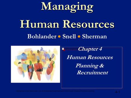 Managing Human Resources Bohlander  Snell  Sherman