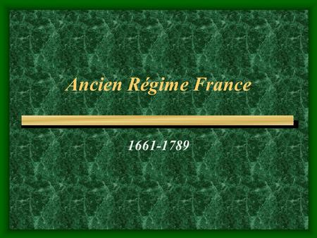 an overview of why did the french ancien regime collapse in 18th century It may well be that the collapse of the old regime was the consequence of other factors  in the 18th century,  the french revolution: ideas and ideologies.