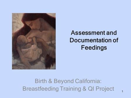 Assessment and Documentation of Feedings