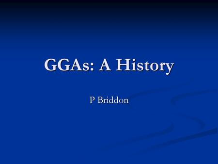 GGAs: A History P Briddon. Thomas Fermi First attempt to write E[n]. First attempt to write E[n]. An early DFT. An early DFT. Issue with KE: Used n 5/3.