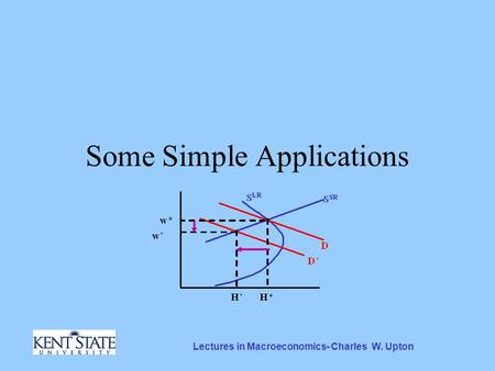 Lectures in Macroeconomics- Charles W. Upton Some Simple Applications.