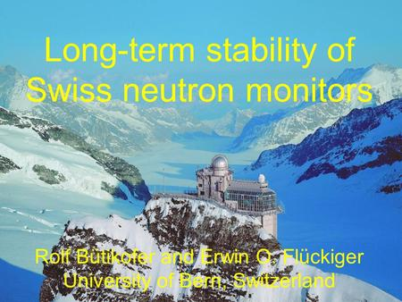 Long-term stability of Swiss neutron monitors