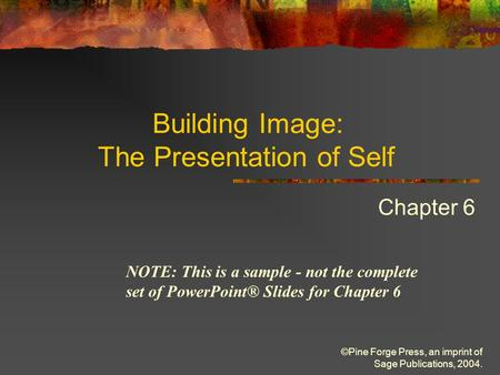 presentation of self