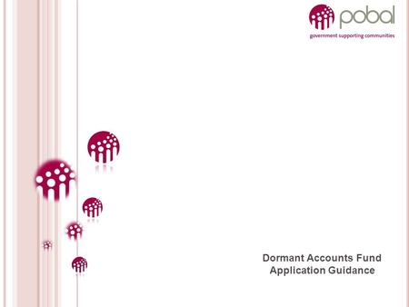 Dormant Accounts Fund Application Guidance. OVERVIEW 1. Advance Planning 2. Application Process 3. Completing the Application Form 4. Selection Process.