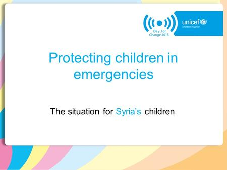 Protecting children in emergencies The situation for Syria's children.