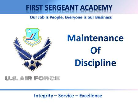 OVERVIEW  Airmen Development  The Air Force Professional  Core Values  Mentoring  Recognition  Airmen Reinforcement  Administrative Actions  Administrative.