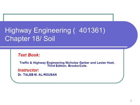 Highway Engineering ) ) Chapter 18/ Soil