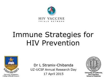 Immune Strategies for HIV Prevention