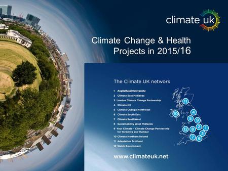 Climate Change & Health Projects in 2015/ 16.
