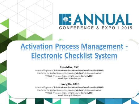 Activation Process Management - Electronic Checklist System